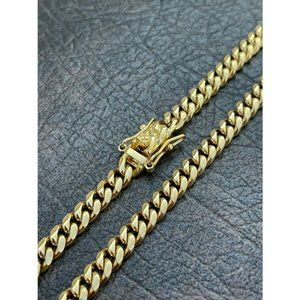 HarlemBling 18k Gold Over Stainless Steel Chain